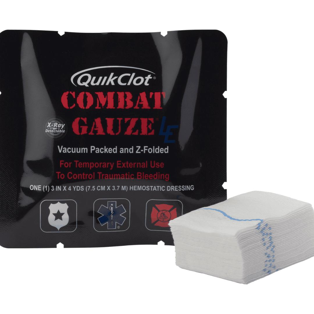 QuikClot Combat Gauze LE Z-Fold